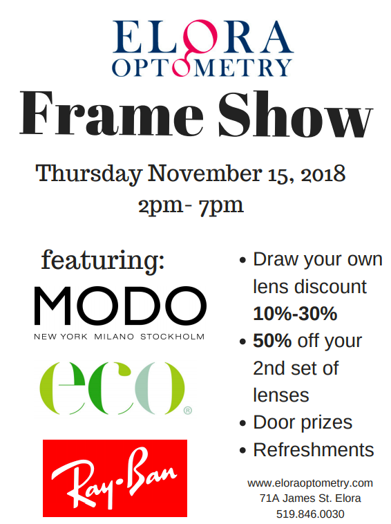 Join us for a Frame Show on 11/15/2018!